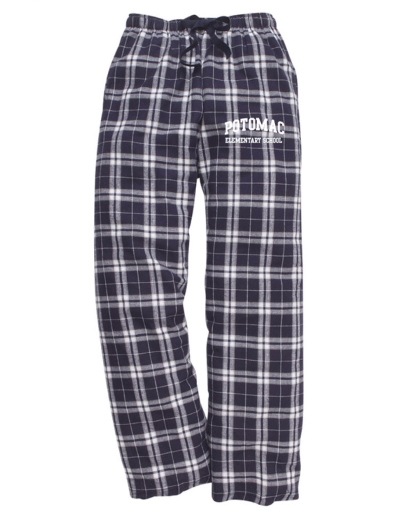 Navy Flannel Pajama Pants